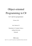 Object-oriented Programming in C#