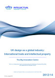 UK design as a global industry: International trade and intellectual property