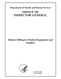 Balance Billing for Medical Equipment and  Supplies