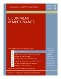 Topic Guides on ADA Transportation: EQUIPMENT  MAINTENANCE