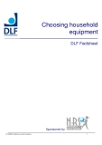 Choosing household  equipment DLF Factsheet