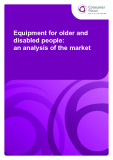Equipment for older and  disabled people:   an analysis of the market