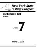 NEW YORK STATE TESTING PROGRAM: MATHEMATICS TEST
