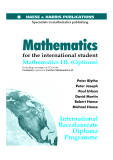 Mathematics for the international student Mathematics HL (Options)