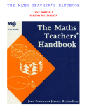 THE MATHS TEACHER'S HANDBOOK
