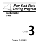 NEW YORK STATE TESTING PROGRAM 3: MATHEMATICS