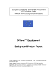 Office IT Equipment Background Product Report