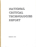 national critical technologies report