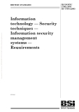 Information technology — Security techniques — Information security management systems — Requirements