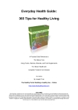 365 Health Tips Ebook