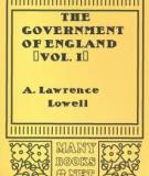 The Government of England (Vol. I)