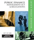 PUBLIC FINANCE MANAGEMENT ACT NO. 1 OF 1999