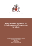 Recommended guidelines for Pain Management Programmes for adults