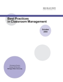 Best Practices in Classroom Management