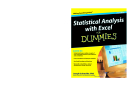 Statistical Analysis with Excel For Dummies, 2nd Edition
