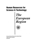 human resources for science and technology the european region 1996