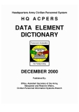 headquarters army civilian personnel system hq acpers data element dictionary december 2000