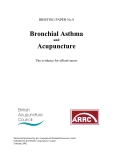 Bronchial Asthma and  Acupuncture