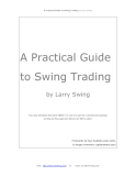 A Practical Guide to Swing Trading by Larry Swing