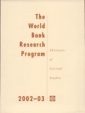 the world bank research program 2002 2003