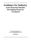 Guidance for Industry Acute Bacterial Sinusitis: Developing Drugs for Treatment