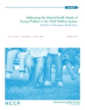 Addressing the Mental Health Needs of Young Children in the Child Welfare System