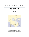Health Service Delivery Profile Lao PDR 2012