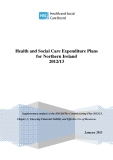 Health and Social Care Expenditure Plans for Northern Ireland 2012/ 13