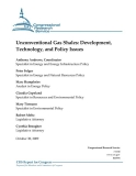 unconventional gas shales development technology and policy issues