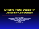 Effective Poster Design for Academic Conferences