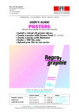 User's guide POSTERS (Ink-jet color plotter for A2 to A0 formats)