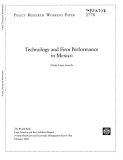 technology and firm performance in mexico