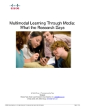Multimodal Learning Through Media:  What the Research Says