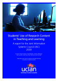 Students' Use of Research Content in Teaching and Learning