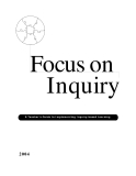 Focus on Inquiry A Teacher's Guide to Implementing Inquiry-based Learning