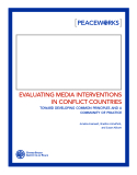 EvAluAting mEdiA intERvEntionS    in ConfliCt CountRiES
