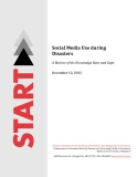 Social Media Use during  Disasters