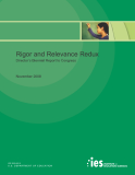 Rigor and Relevance Redux Director's Biennial Report to Congress