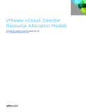 VMware vCloud®  Director ™  Resource Allocation Models