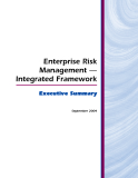 Enterprise Risk  Management —  Integrated Framework