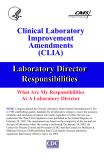 Clinical Laboratory  Improvement Amendments (CLIA)