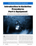 Introduction to Guideline  Procedures  Part 1: Equipment