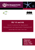 ITIL® V3 and ASL  Sound Guidance for Application   Management and Application Development