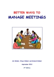 BETTER WAYS TO  MANAGE MEETINGS