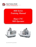 Mill Series Training Manual
