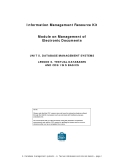 Information Management Resource Kit Module on Management of Electronic DocumentsUNIT 5. DATABASE MANAGEMENT SYSTEMS LESSON 6. TEXTUAL DATABASES AND CDS/ISIS BASICSNOTE Please note that this PDF version does not have the interactive features offered th
