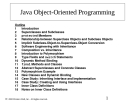Java Object-Oriented Programming