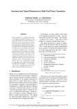 """Báo cáo khoa học: """"Structural and Topical Dimensions in Multi-Task Patent Translation"""""""