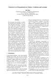 """Báo cáo khoa học: """"Character-Level Dependencies in Chinese: Usefulness and Learning"""""""