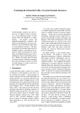 """Báo cáo khoa học: """"Evaluating the Inferential Utility of Lexical-Semantic Resources"""""""